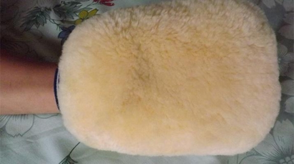 Quality Sheepskin Washing Mitts SCM15-201 for sale