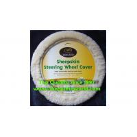 Sheepskin Steering Wheel Cover BSS15-201 Manufactures