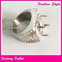 Fashion new model man ring stone finger ring with four claw castings Manufactures