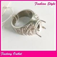 Buy cheap Gold&silver vintage indonesia fashion ring design for men for big gemstone from wholesalers