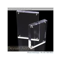 Quality acrylic magnetic sign holder custom crystal for sale