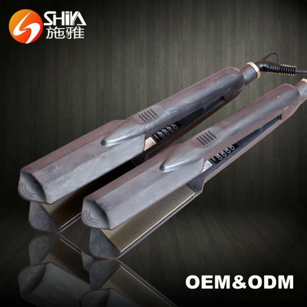 Quality SY-823 High Quality Ceramic Titanium Private Label Flat Iron Hair Straightener for sale