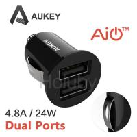 Buy cheap AUKEY Mini Size CC-S1 5V 4.8A Dual-port USB Car Charger - Black from wholesalers