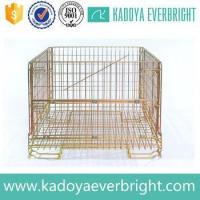 Buy cheap Industry stackable metal wire storage cage from wholesalers