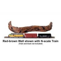 Accessories A Model Railroad - Red-brown Wall Manufactures