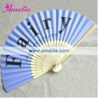 China AF157 High quality with your logo pinting wedding folding fans on sale