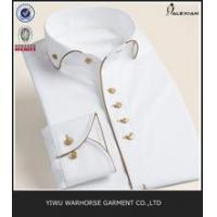 100% cotton high quality slim fit long sleeve button down collar men formal dress shirts Manufactures
