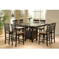 Coaster Hyde Counter Height Square Dining Table with Storage Base in Cappuccino(Table only) Manufactures