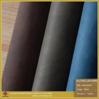 Shoe Leather Wax Polished PU Leather (S064) Manufactures