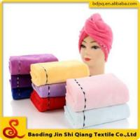 China Wholesale thickening dry hair cap microfiber hair drying towel on sale