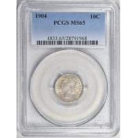 1904 Barber Dime PCGS MS-65 Manufactures