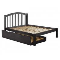 Alaska Spindle Headboard Platform Bed with Trundle in Java Manufactures