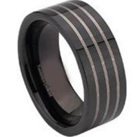China COI Black Tungsten Carbide Ring - TG672[027] on sale