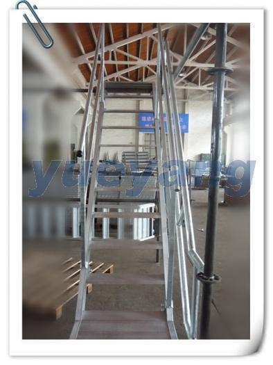 Aluminum Scaffolding Systems : Aluminium scaffolding stair system with smart design for