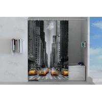 China Grey shower curtain on sale