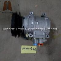 6D102 air condition compressor for PC200-6 excavator parts Manufactures