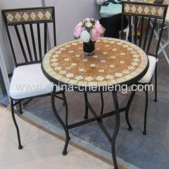 Quality iron mosaic furniture bistro sets for sale