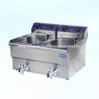 China Commercial Double Cylinder Electric Fryer WithTap on sale