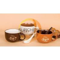 16oz stoneware coffee soup mug with spoon Manufactures