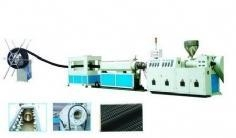 China PE Carbon Spiral Reinforced Pipe Production Line