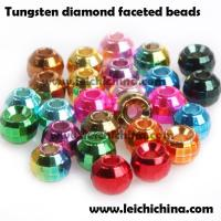 China Tungsten diamond faceted beads on sale