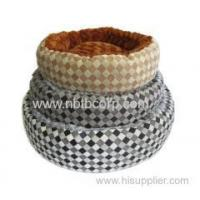 Round square grid pattern donut pet bed for dogs Manufactures