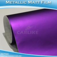 China CARLIKE CL5505 Chrome Metallic Matte Purple Car Wrap Vinyl Foil on sale