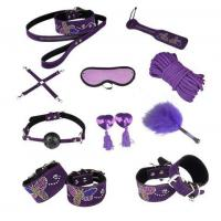 Butterfly 10pc Leather Bondage Set Collar, Paddle, Hogtie, Mask, Rope Manufactures