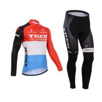 Winter red trek short sleeve cycling jersey and cycling bib pant long Manufactures