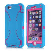 China robot style PC+silicon triple layer for iPhone 6 defender case with dust plug on sale