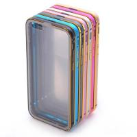 transparent arcylic iPhone 6 back cover with dual colors aluminum bumper Manufactures