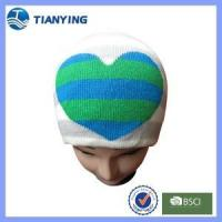 Buy cheap women jacquard acrylic knitting beanie hat for winter from wholesalers