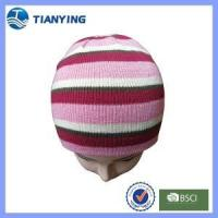Buy cheap women acrylic knitted beanie hat from wholesalers