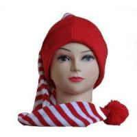 Buy cheap Hats Women's Striped Scarf & Knited Beanie Hat Set from wholesalers