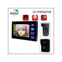 China Saful TS-YP806DVR 7''wired recordable video door phone( 2G SD card) on sale