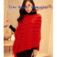 New Fashion Acrylic&Lanital Macrame Knitted Cloak Tippet Shawl/Cappa Scarf Manufactures