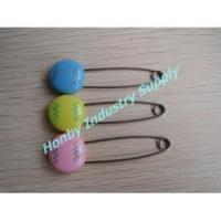 China plastic head with ripple line baby diaper safety pin on sale