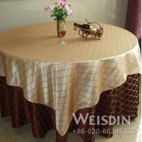 China WEISDIN plaid design cheap disposable round table cloth on sale