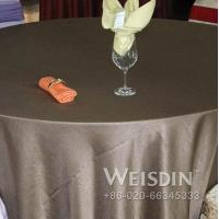 new style fancy decorative plain round silver table cloth Manufactures