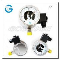 Electric contact pressure gauges 4 inch dial with all stainless steel bottom connection Manufactures