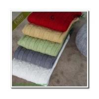 Cable Knitted Blanket Manufactures