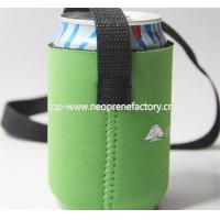 Buy cheap koozies Neoprene can cooler with belt from wholesalers