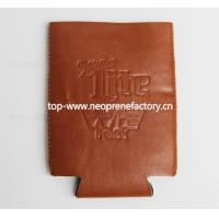 Buy cheap koozies PU Leather Can Cooler from wholesalers