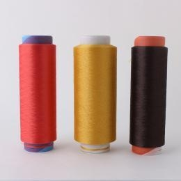 Quality Dope Dyed Color Polyester DTY Yarn for Weaving, Hand Knitting for sale
