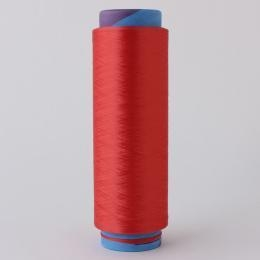 Quality polyester dope dyed red DTY yarn for weaving for sale