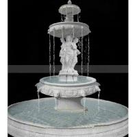 China Stone Marble Carving Fountain for Garden Carved Fountain on sale