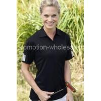Women's ClimaLite3-Stripes Cuff Polo Manufactures