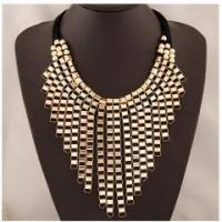 Buy cheap Cheap wholesale exaggerate gorgeous gold jewelry layer golden tassels necklace from wholesalers