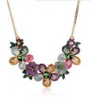 Buy cheap Lady chic clothing accessories new design hollow rhinestone flower necklace fahsionable jewelry from wholesalers