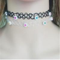 Buy cheap Cheap heart choker necklace, new design black tattoo choker necklace from wholesalers